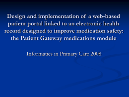 Design and implementation of a web-based patient portal linked to