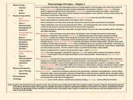 Pharmacologic Principles – Chapter 2