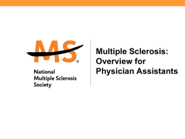 Physician Assistants - National Multiple Sclerosis Society