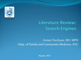 L1-Literature Search - King Saud University Medical Student