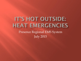 Heat Emergencies - Presence Health