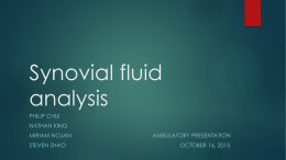 Synovial fluid analysis - Department of Medicine