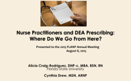 PowerPoint - Florida Association of Nurse Practitioners