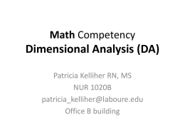 Math Competency Dimensional Analysis