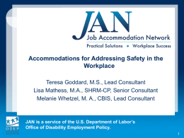 Workplace Safety - Job Accommodation Network