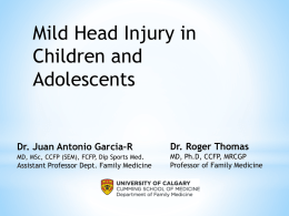 (Canadian Assessment of Tomography for Childhood Head Injury
