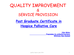 QUALITY IMPROVEMENT AND SERVICE