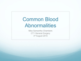 Common Blood Abnormalities