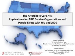 Slides: The Implications of the ACA on ASOs and