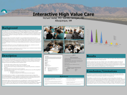 Interactive High Value Care