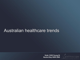 Trends Influencing the Future of Healthcare