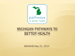 Michigan Pathways to Better Health