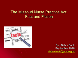 Nurse Practice Act/Delegation