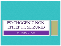 Introduction to Psychogenic non