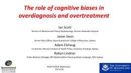 The role of cognitive biases in overdiagnosis and
