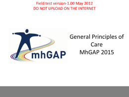 General Principles of Care MhGAP 2015 File