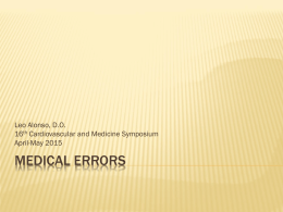 Medical Errors - Foma District 2