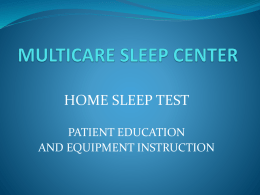 MULTICARE SLEEP CENTER
