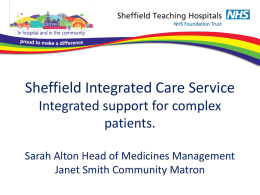 Sheffield Integrated Care Service A co