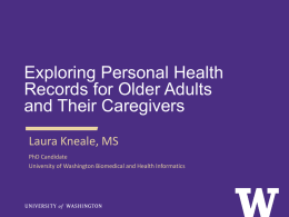Exploring Personal Health Records for Older Adults and Their