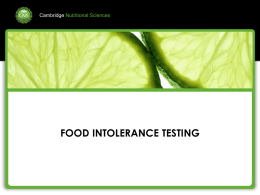 FOOD INTOLERANCE TESTING - global-biotech