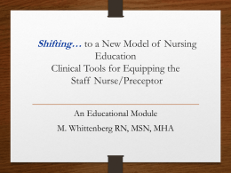 The Concept-based Learning Model of Nursing Education