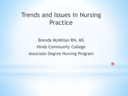 Trends and Issues Affecting Nursing Practice by Brenda McMillan