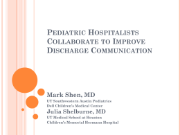 Improving Pediatric Hospitalist-Primary Care Provider Communication