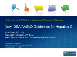 New IDSA/AASLD Guidelines for Hepatitis C