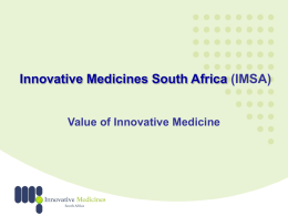 IMSA – Value Of Innovative Medicine