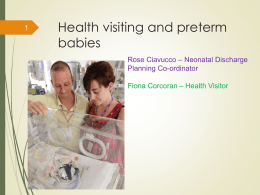 Health visiting and preterm babies