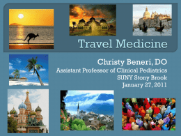 Travel Medicine (Powerpoint presentation)