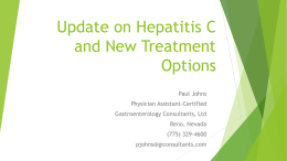 Update on Hepatitis C and New Treatment Options