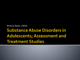 Assessing and Diagnosing Substance Abuse Disorders