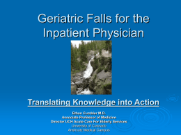 Geriatric Falls for the Inpatient Physician