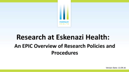 Eskenazi Health PowerPoint Template