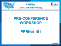 PPRNet 2014 Annual Meeting