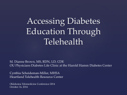 Accessing Diabetes Education Through Tele-Health