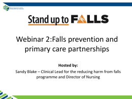 Falls prevention and primary care partnerships