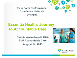 Essentia Health Values - Performance Excellence Network