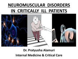 NeuroMuscular Diseases in Critically Ill Patients