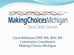 Discuss. Decide. Document: Advance Care Planning with Making