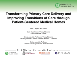Transforming Primary Care Delivery