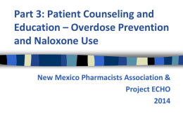 Part 3 - Patient Education - New Mexico Pharmacists Association