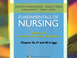 Nursing Interventions for Common Sensory Alterations