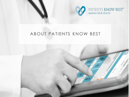 Patients Know Best - Destination Digital