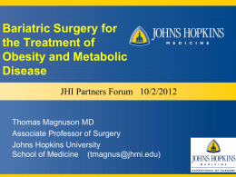 obesity surgery at jhbmc