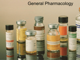 General Pharmacology - Respiratory Therapy Files