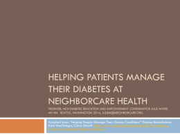Helping Patients Manage Their Diabetes