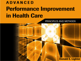 Lean Processing and Standardization in Healthcare Quality